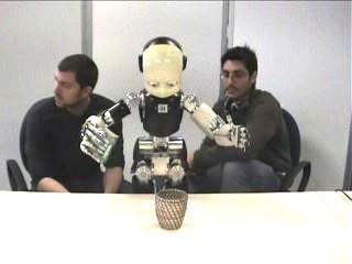 Preliminary training of the robot with an artificial intellect to execution of the elementary actions. Предварительное обучение робота с искусственным интеллектом к выполнению элементарных действий.